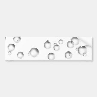 Bubblar i svartvitt bildekal