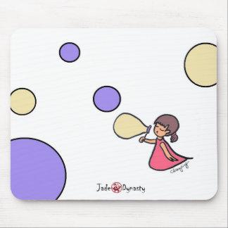 Bubblar lite flickan Mousepad Musmatta