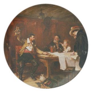 Buccaneer'sens berättelse (olja på kanfas) dinner plate