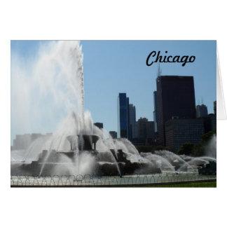 Buckingham fontän - Chicago Hälsningskort
