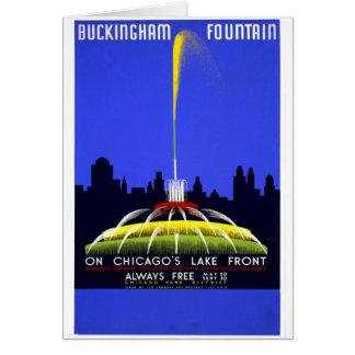 Buckingham fontän hälsningskort