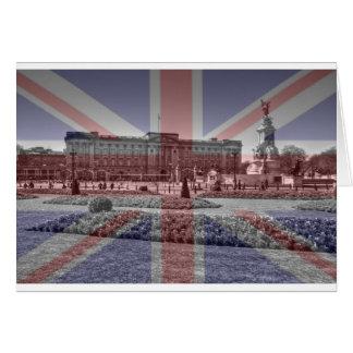 Buckingham Palace facklig jackflagga Hälsningskort