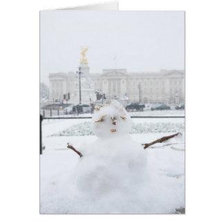Buckingham Palace snögubbe London Hälsningskort