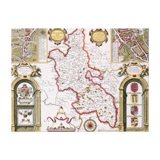 Buckinghamshire som inristas av Jodocus Canvastryck