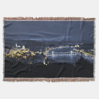 Budapest Ungern på nattkastfilten Filt