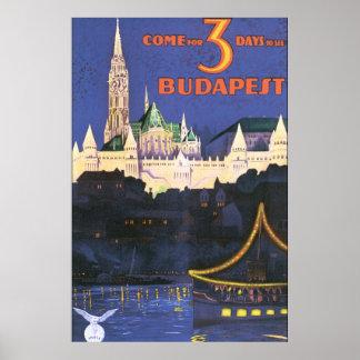 Budapest vintage resoraffisch poster