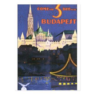 Budapest vintage resoraffisch vykort