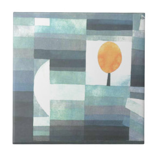 Budbärare av hösten av Paul Klee Liten Kakelplatta