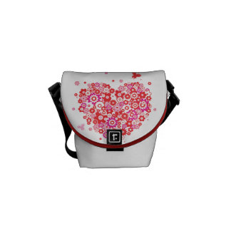Budbärare för blommahjärta 1 hänger lös kurir väska