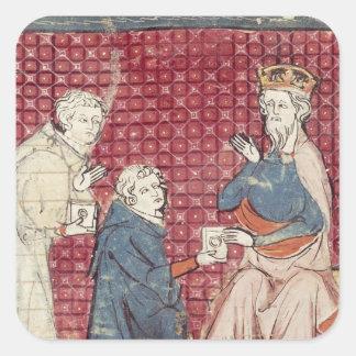 Budbärare träffande Charlemagne Fyrkantiga Klistermärken