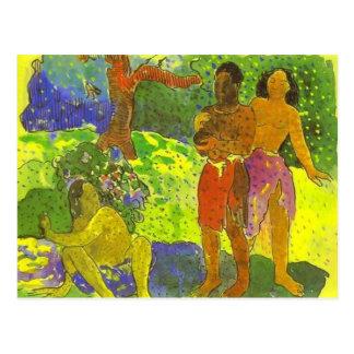 """""""Budbärarna av Oro - den Paul Gauguin vykortet Vykort"""