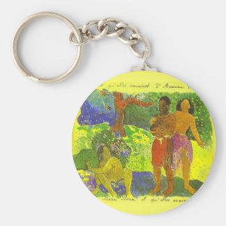 """""""Budbärarna av Oro"""" - Paul Gauguin Keychain Rund Nyckelring"""