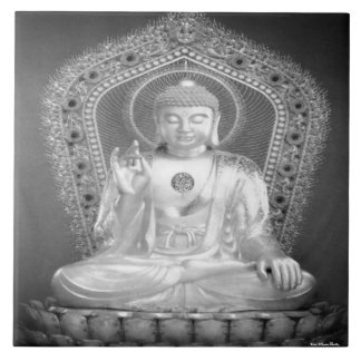 Buddha belägger med tegel stor kakelplatta