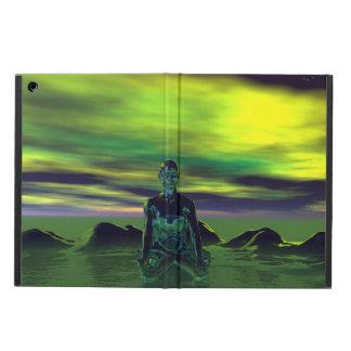 buddha blått och himmelgrönt iPad air skal