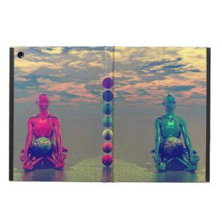 buddha blått och rött och chakra iPad air fodral