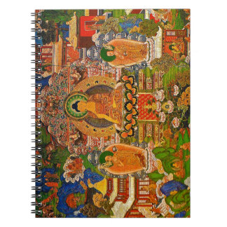 Buddha buddistisk buddism som välsignar den Boho Anteckningsbok Med Spiral