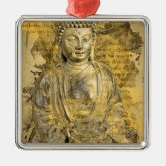 Buddha de nobla sanningarna julgransprydnad metall