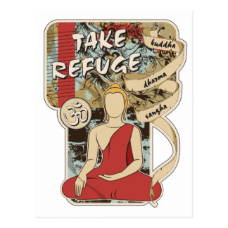 Buddha, Dharma och Sangha Vykort