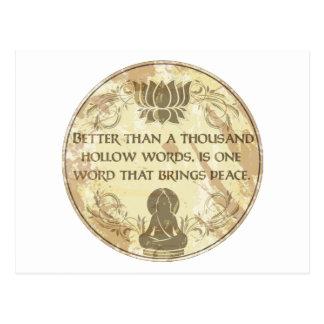 Buddha fördjupningord vykort