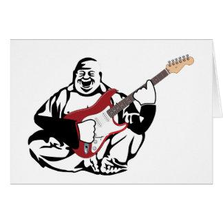 Buddha gitarrist hälsningskort