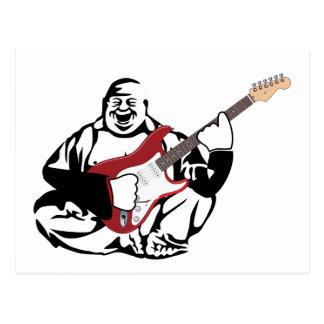 Buddha gitarrist vykort