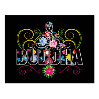 Buddha i blommor vykort