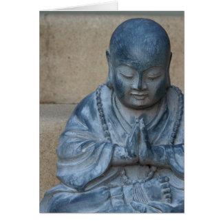 Buddha i bön hälsningskort