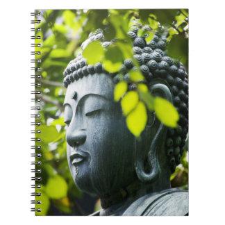 Buddha i Senso-ji tempelträdgård Anteckningsbok Med Spiral
