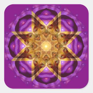 Buddha Mandalakonst Fyrkantigt Klistermärke