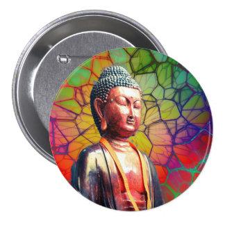 Buddha Mellanstor Knapp Rund 7.6 Cm