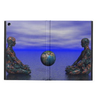 buddha metall och planet iPad air skydd