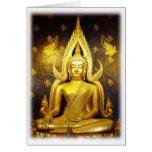 Buddha på Yai-Tomma Wat noterar kortet Hälsningskort