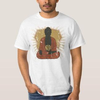 Buddha som mediterar Om-symbol Tee Shirt