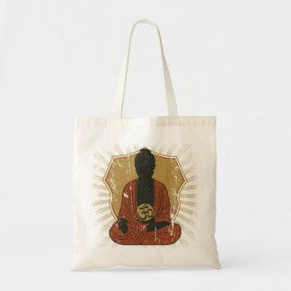 Buddha som mediterar Om-symbol Tygkasse