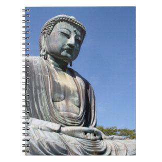 Buddha staty i Kamakura, Japan Anteckningsbok