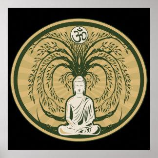 Buddha under det Bodhi träd Poster