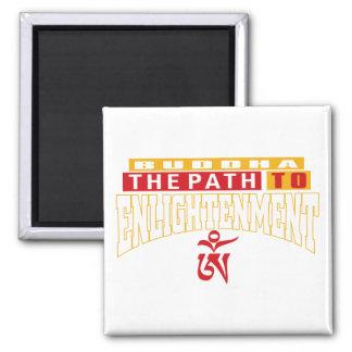 Buddha väg till Enlightnement Kylskåpsnagnet