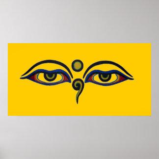 Buddhas ögon poster