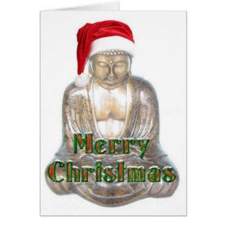Buddism - Buddha - god julhatt Hälsningskort