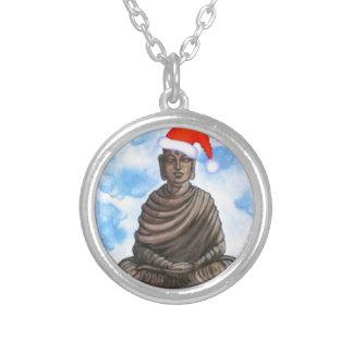 Buddism - Buddha - god julhatt Silverpläterat Halsband