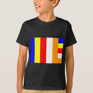 Buddistisk flagga t-shirt