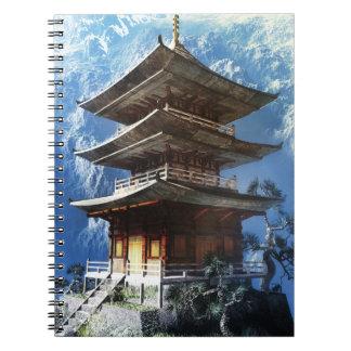 Buddistisk Zentempelanteckningsbok Anteckningsbok