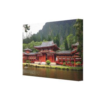 Buddistiskt tempel canvastryck