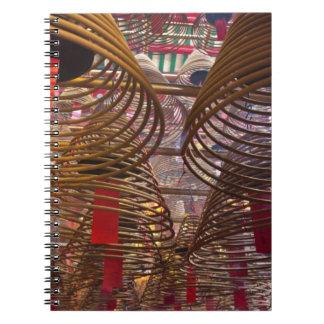 Buddistiskt tempel för manMo av Hong Kong 2 Anteckningsbok Med Spiral