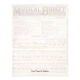 Budget- jul för musikal brevhuvud