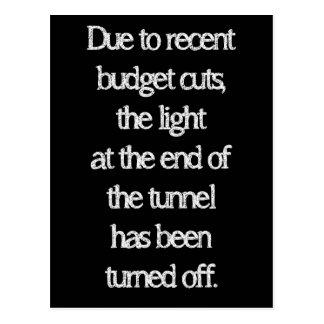 Budgetnedskärningar Vykort
