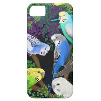 Budgie papegojor i Fernsiphone case iPhone 5 Case-Mate Skydd