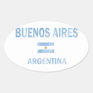 Buenos Aires Argentina designer Ovalt Klistermärke