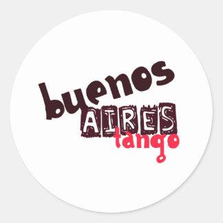 Buenos Aires Tango Runt Klistermärke