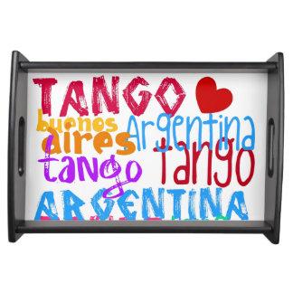 Buenos Aires tango Serveringsbricka